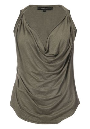 Urban Zen cowl neck sleeveless top - Green