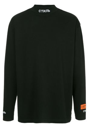 Heron Preston funnel neck T-shirt - Black