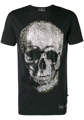 Philipp Plein embellished skull T-shirt - Black