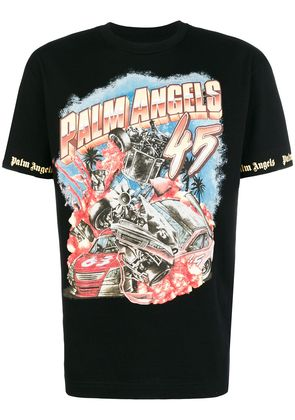 Palm Angels graphic print logo T-shirt - Black