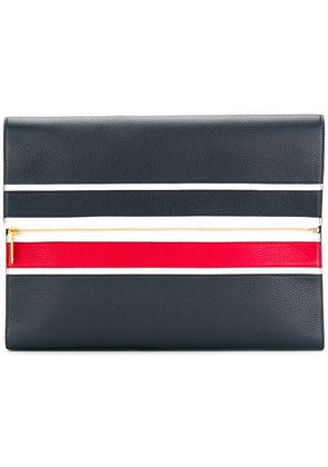 Thom Browne Unstructured Seamed Exterior Panels Deerskin Laptop Case -