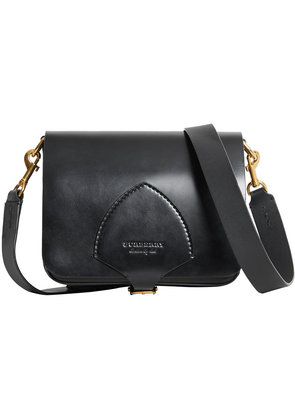 Burberry The Square Satchel in Bridle Leather - Black