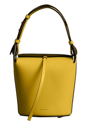 Burberry The Small Leather Bucket Bag - Yellow & Orange