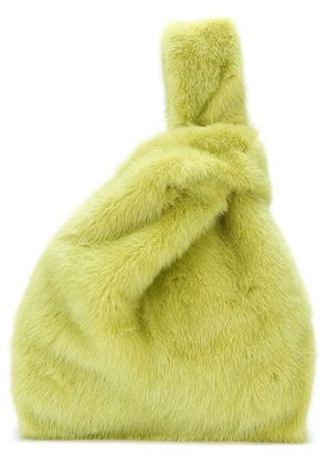Simonetta Ravizza fur tote bag - Green