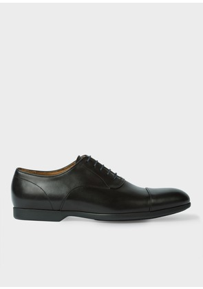 Men's Black Leather 'Eduardo' Oxford Shoes With Travel Soles