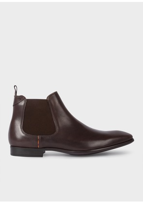 Men's Dark Brown Leather 'Falconer' Chelsea Boots