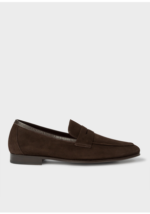 Men's Chocolate Brown Suede 'Glynn' Penny Loafers