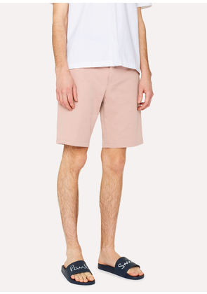 Men's Pink Stretch-Cotton Shorts