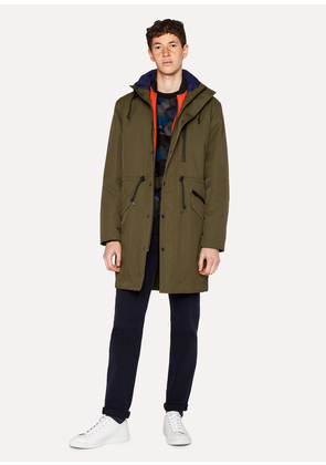 Men's Forest Green 2-In-1 Parka With Detachable Liner