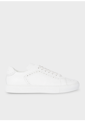 Men's White Leather 'Wooster' Trainers