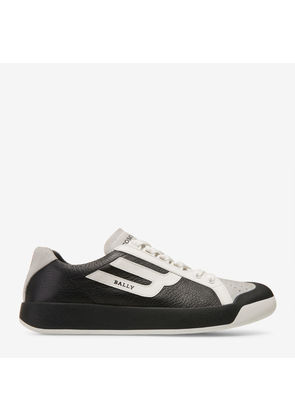 Bally The New Competition Black, Men's deer leather trainer in black