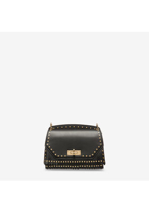 Bally Suzy Small Black, Women's small plain calf leather shoulder bag in black