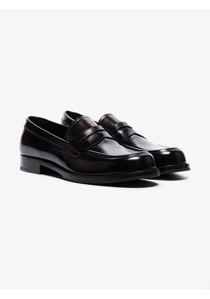 Prada brown classic leather loafers