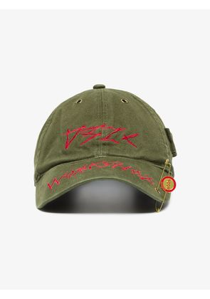 032C hunter green WWB washed cotton cap