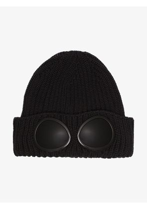 CP Company black wool hat sunglasses detail