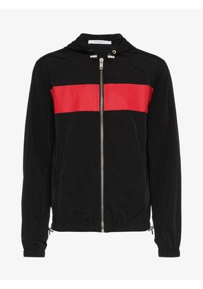 Givenchy logo print stripe hooded jacket