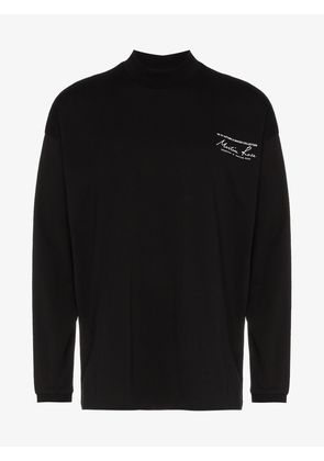 Martine Rose long sleeve high neck logo print-shirt
