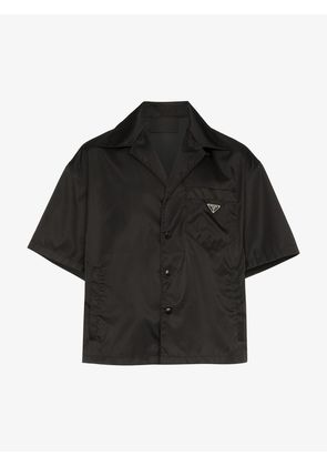 Prada logo badge short sleeve shirt