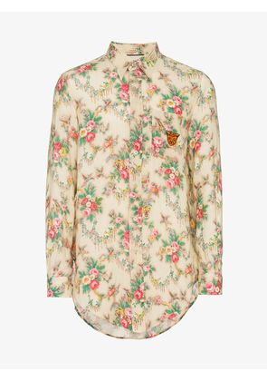 Gucci floral print long sleeve shirt