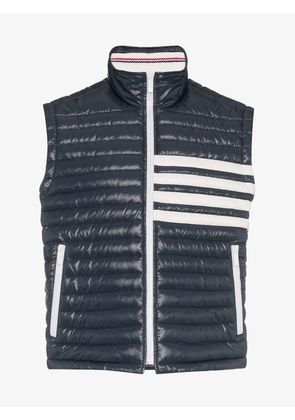 Thom Browne sleeveless stripe gilet vest