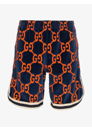Gucci knee length logo printed shorts