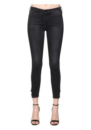SKINNY COATED TUX JEANS W/ SIDE BANDS