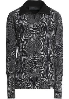 Norma Kamali Woman Printed Woven Jacket Black Size M