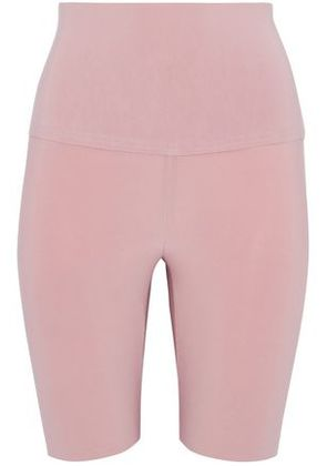Norma Kamali Woman Under Kulture Stretch Shorts Baby Pink Size M