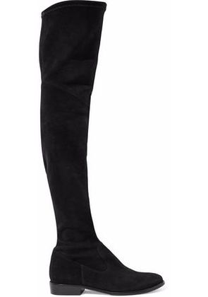 Schutz Woman Suede Over-the-knee Boots Black Size 8