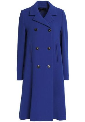 Vanessa Seward Woman Double-breasted Wool-crepe Coat Royal Blue Size 36