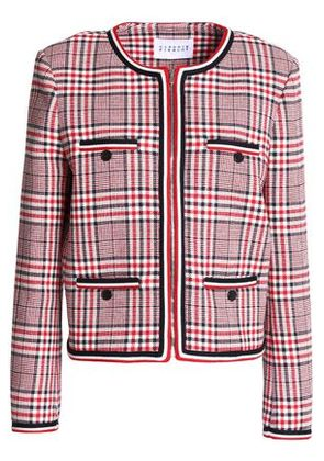 Claudie Pierlot Woman Vanina Checked Cotton-blend Jacket Red Size 38