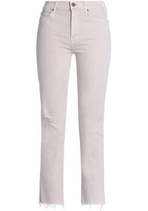 Mother Woman High-rise Skinny Jeans Pastel Pink Size 31