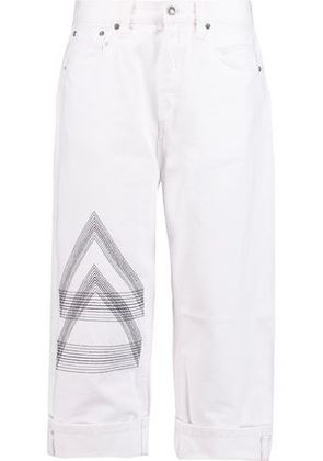 Marc By Marc Jacobs Woman Big Jean High-rise Embroidered Straight-leg Jeans White Size 27