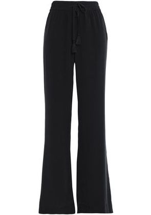 Joie Woman Washed-silk Wide-leg Pants Charcoal Size S