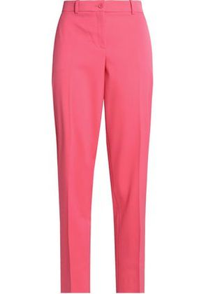 Michael Kors Collection Woman Cropped Wool-blend Twill Straight-leg Pants Pink Size 14