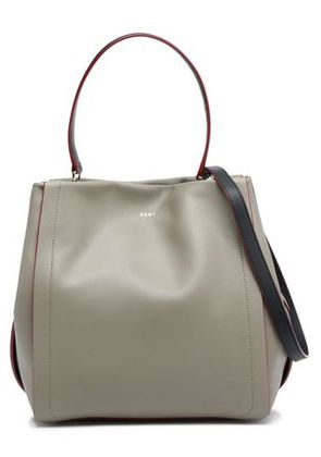 Dkny Woman Leather Shoulder Bag Grey Green Size -