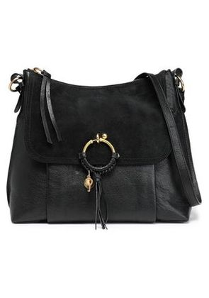 See By Chloé Woman Suede-paneled Leather Shoulder Bag Black Size -