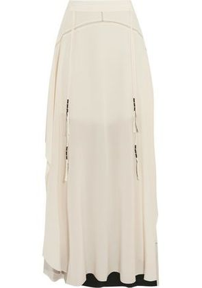 By Malene Birger Woman Asymmetric Silk Maxi Skirt White Size 42