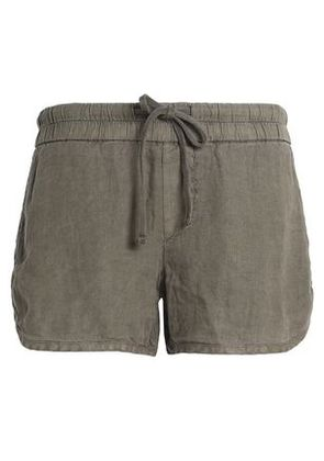 James Perse Woman Linen Shorts Army Green Size 1