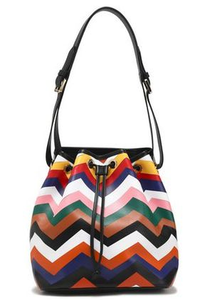 Missoni Woman Printed Leather Bucket Bag Multicolor Size -
