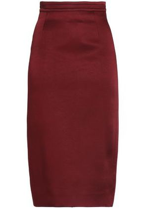 Antonio Berardi Woman Crepe-satin Skirt Burgundy Size 42