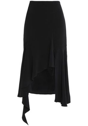 Goen.j Woman Asymmetric Ruffled Silk Skirt Black Size M