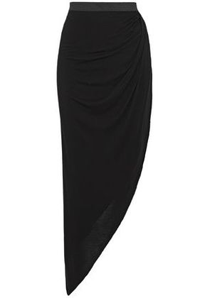 Enza Costa Woman Asymmetric Jersey Skirt Black Size S