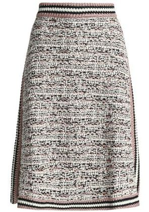 M Missoni Woman Metallic Wool-blend Bouclé-knit Skirt Pastel Pink Size 40