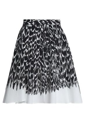 Milly Woman Circle Printed Cotton-blend Poplin Skirt Black Size 4
