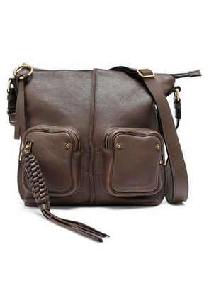 See By Chloé Woman Leather Shoulder Bag Dark Brown Size -