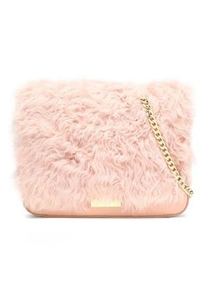 Loeffler Randall Woman Leather And Suede Shoulder Bag Pink Size -