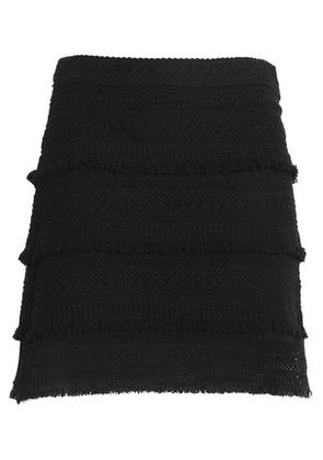 Joie Woman Crocheted Cotton Mini Skirt Black Size 2