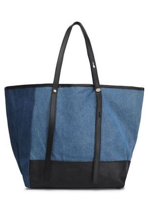 See By Chloé Woman Two-tone Denim Tote Mid Denim Size -