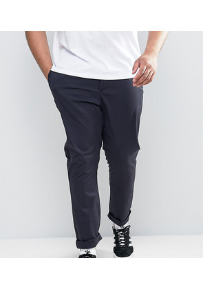 ASOS PLUS Skinny Chinos In Navy - Navy